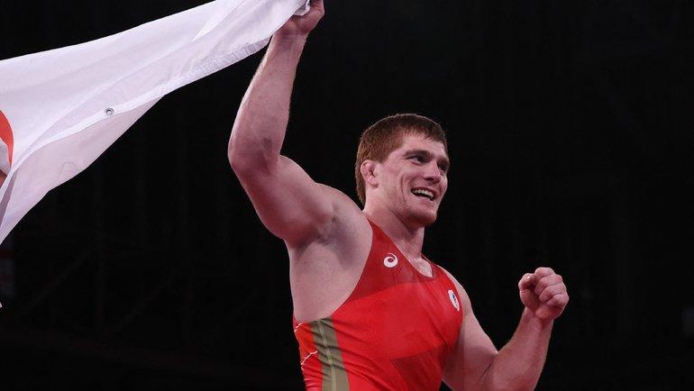 Муса Евлоев— единственный чемпион Токио-2020 изРоссии вгреко-римской борьбе. Фото AFP