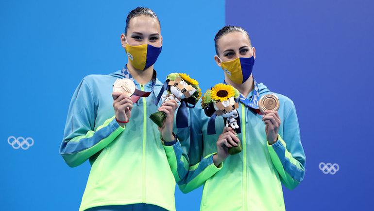 Марта Федина иАнастасия Савчук намгновение стали представлять сборную ОКР. Фото Getty Images