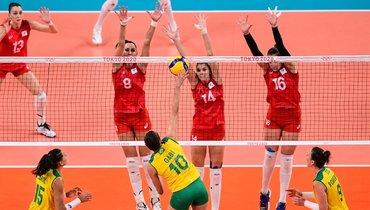 4августа. Токио. Бразилия— Россия— 3:1. Россиянки проиграли вчетвертьфинале Олимпиады.