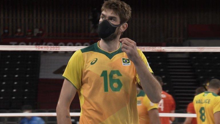 Бразильский волейболист Лукас.