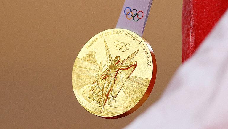 Золотая медаль Олимпиады вТокио. Фото Getty Images