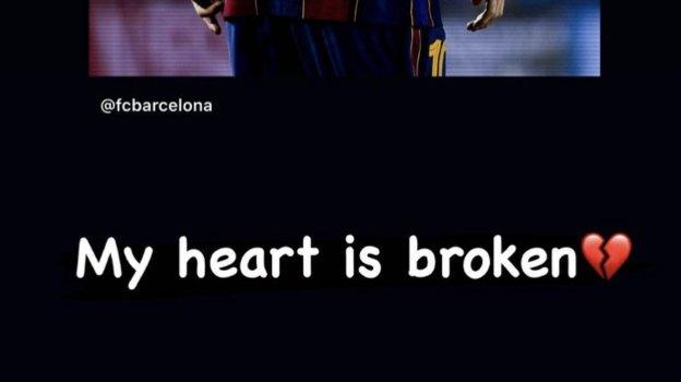 Касаткина — об уходе Месси из «Барселоны»: «Мое сердце разбито». Фото Instagram