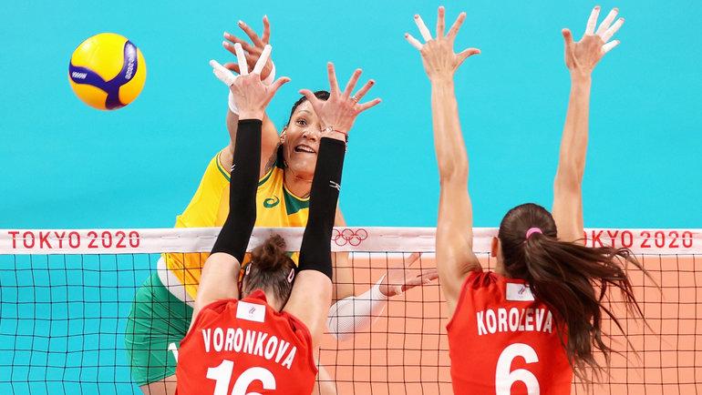 Бразильская волейболистка Тандара Кайшета вматче против сборной России наОлимпиаде. Фото Getty Images