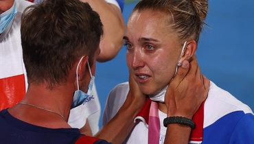 «Ядержалась всю Олимпиаду ивконце поддалась эмоциям». Веснина призналась, что расплакалась вТокио