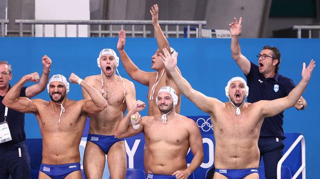Сборная Греции поводному поло. Фото AFP