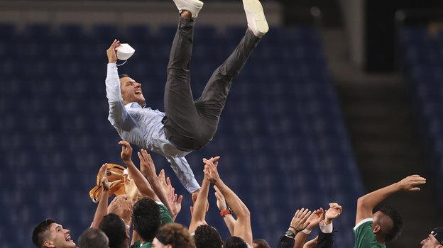 Сборная Мексики пофутболу завоевала бронзу Олимпиады. Фото AFP