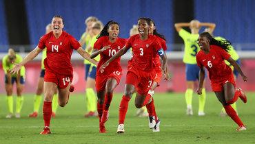 Женская сборная Канады победила Швецию ивыиграла олимпийский футбольный турнир