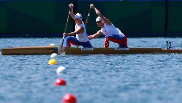 Россиянки Андреева иРомасенко заняли последнее место вфинале Олимпиады вканоэ-двойках на500 метров
