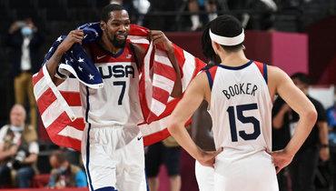 Американцы взяли Олимпиаду вбаскетболе вчетвертый раз подряд. Франция дала бой, нонесмогла остановить Дюранта