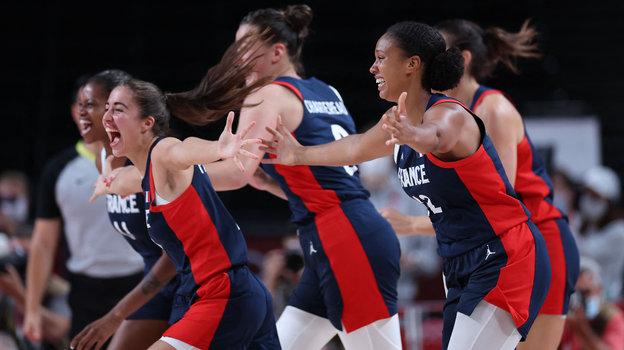 Женская сборная Франции побаскетболу. Фото AFP