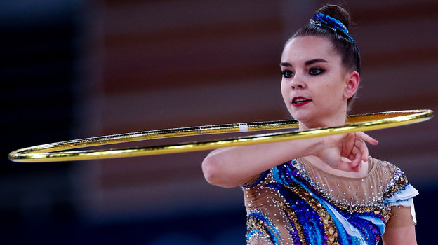 Дина Аверина наОлимпийских играх вТокио. Фото Дарья Исаева, «СЭ» / Canon EOS-1D X Mark II
