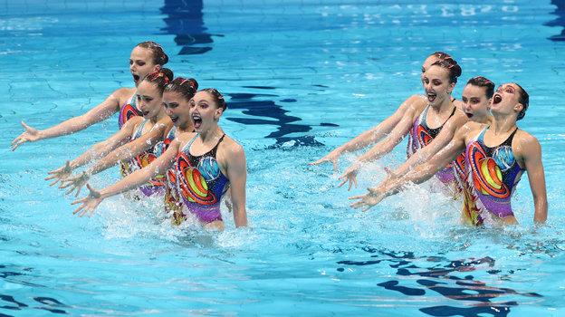 Сборная России посинхронному плаванию. Фото Дарья Исаева, «СЭ» / Canon EOS-1D X Mark II