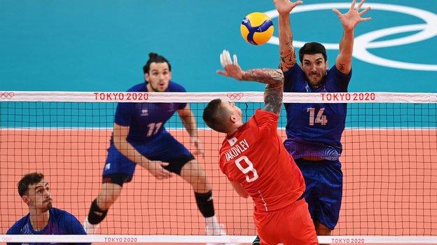 7 августа. Финал Олимпиады. Россия выиграла третий сет у Франции. Фото AFP