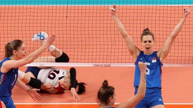Женская сборная Сербии поволейболу завоевала бронзовые медали Олимпиады-2020. Фото Reuters