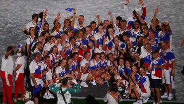 8августа. Токио. Сборная России нацеремонии закрытия Олимпиады-2020. Фото Reuters
