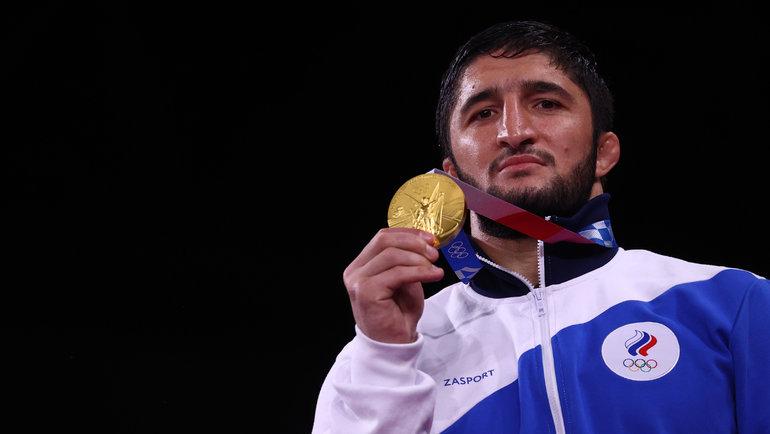 Абдулрашид Садулаев— двукратный олимпийский чемпион ввольной борьбе, вТокио-2020 онвзял золото ввесовой категории до97кг. Фото Reuters