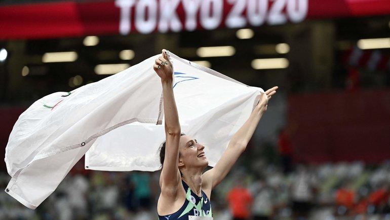 Мария Ласицкене— золото впрыжках ввысоту! Фото AFP