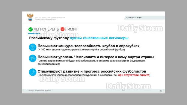 Доклад РФС овозможной отмене лимита налегионеров вРПЛ. Фото Daily Storm
