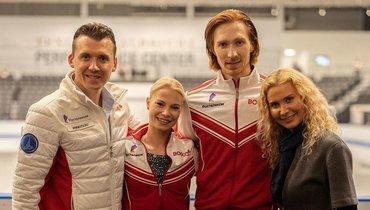 Павел Слюсаренко, Евгения Тарасова, Владимир Морозов иЭтери Тутберидзе. Фото Instagram