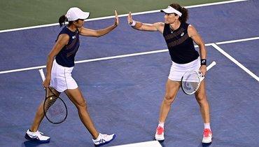 Стосур иШуай стали победительницами турнира вЦинциннати впарном разряде