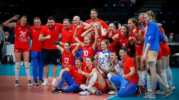 Россиянки начали чемпионат Европы сдвух побед. Фото ВФВ, vk.com/rusvolleyteam