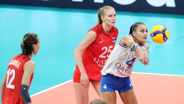 Женская сборная России потерпела первое поражение наЧЕ. Фото ВФВ, vk.com/rusvolleyteam