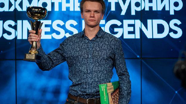 Победитель турнира – гроссмейстер Никита Афанасьев. Фото Этери Кублашвили