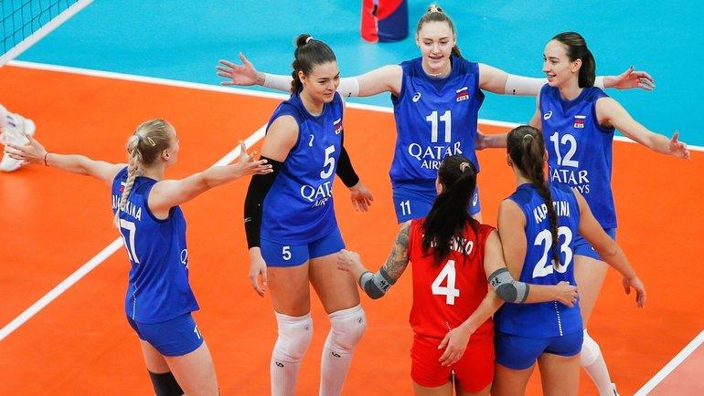 Женская сборная России поволейболу. Фото eurovolley.cev.eu