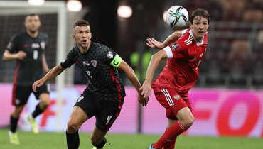 1сентября. Москва. Россия— Хорватия— 0:0. Марио Фернандес (справа) иИван Перишич.