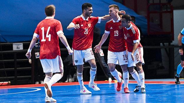 Футболисты мини-футболтной сборной России. Фото Getty Images