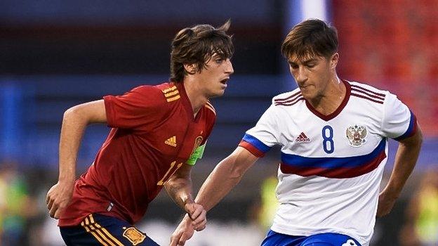 3сентября. Альмендралехо. Испания U21— Россия U21— 4:1. Фото https://vk.com/teamrussia_u21