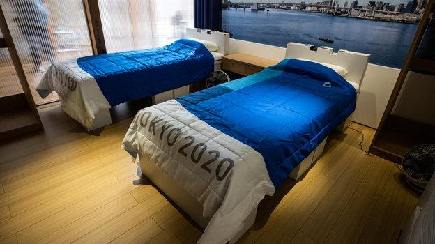 Кровати вномере Олимпийской деревне. Фото Getty Images