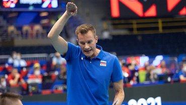 Россия одержала первую победу начемпионате Европы поволейболу