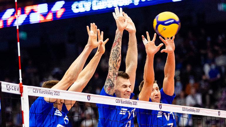 Волейболисты сборной России. Фото CEV