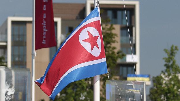 Флаг КНДР. Фото Getty Images