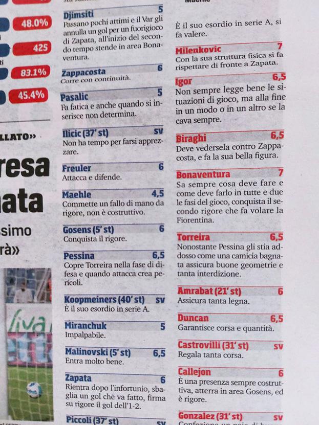 Corriere dello Sport.