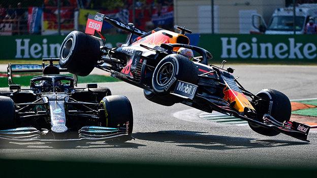 Формула-1, гран-при Италии: почему столкнулись Ферстаппен иХэмилтон, разбор инцидента, кто победил, обзор гонки 12сентября 2021 года