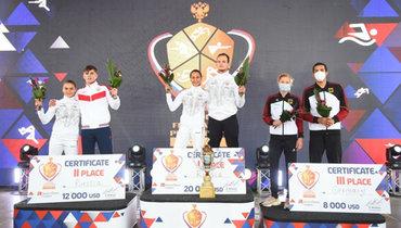 Традиционный турнир под новым названием выиграла команда всоставе Гульназ Губайдуллиной иАлександра Лифанова. Фото pentathlon-russia.ru