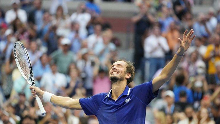 Даниил Медведев после победы вфинале. Фото USA Today Sports