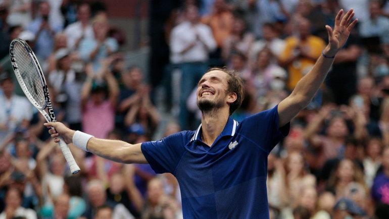 Даниил Медведев победил Новака Джоковича вфиналеUS Open-2021. Фото AFP