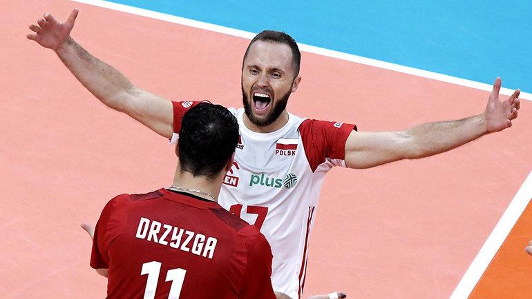 Волейболисты сборной Польши. Фото CEV