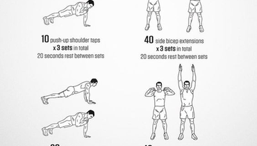 Упражнение набицепс ссобственным весом.
