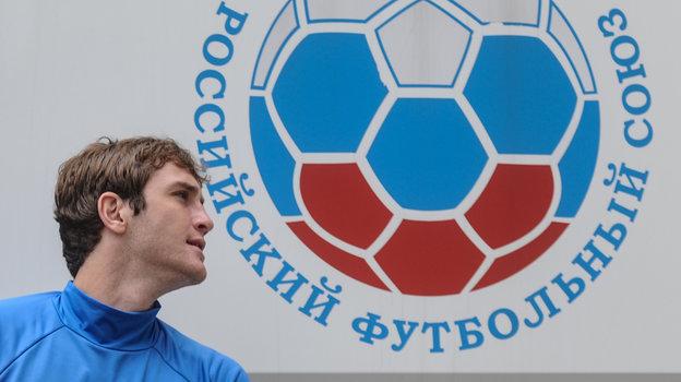 2017 год. Марио Фернандес натренировке сборной России.
