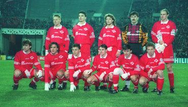 1 ноября 1995 года. Москва. «Спартак» - «Русенборг» - 4:1. Футболисты красно-белых.