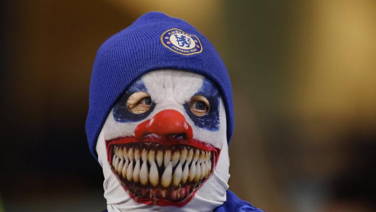 Болельщик «Челси» наигре лондонского клуба вЛиге чемпионов с «Зенитом».