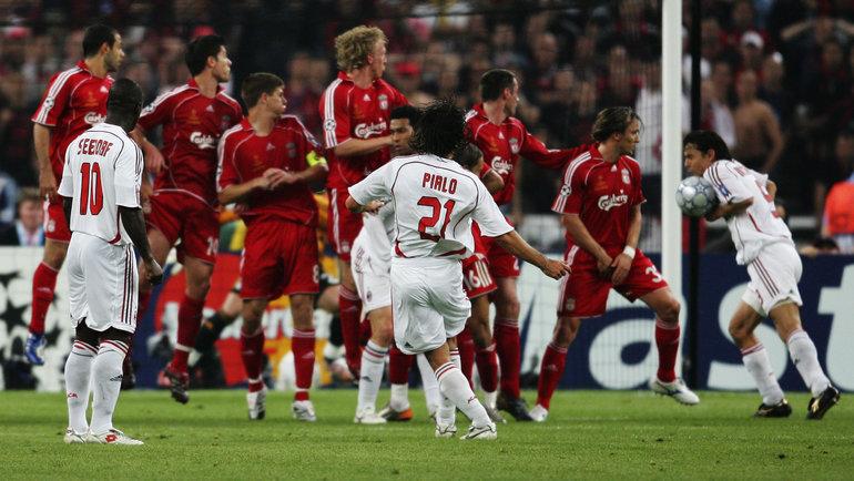 23мая 2007 года. Афины. «Милан»— «Ливерпуль»— 2:1. Гол Филиппо Инзаги (справа). Фото Getty Images