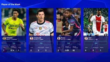 Левандовски, Беллингем, Алле иНкунку претендуют название лучшего игрока недели вЛиге чемпионов
