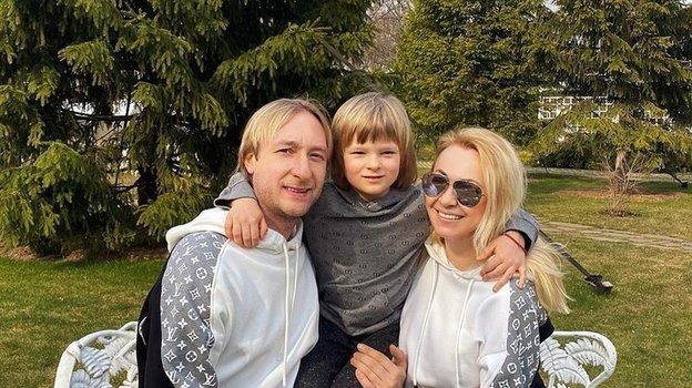 Евгений Плющенко, Александр Плющенко, Яна Рудковская. Фото Instagram