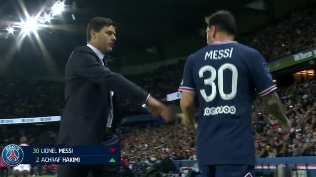Месси остался недоволен решением тренера заменить его вматче «ПСЖ»— «Лион». Фото Twitter