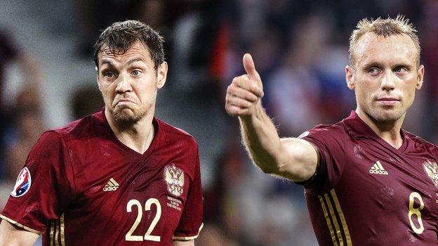 Денис Глушаков иАртем Дзюба. Фото РИА Новости